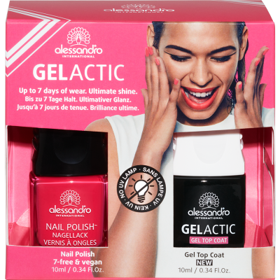 Gelactic Nail Set Bubble Gum 2ER spalva + topas (10ml+10ml)