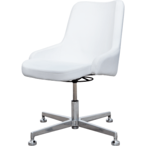 De Luxe balta kliento kėdė