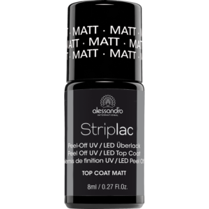 Striplac Top Coat Matt matinis viršutinis sluoksnis (8ml)